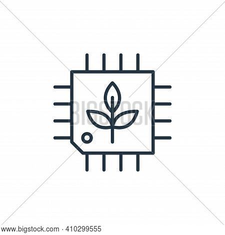 cpu icon isolated on white background from smart farm collection. cpu icon thin line outline linear