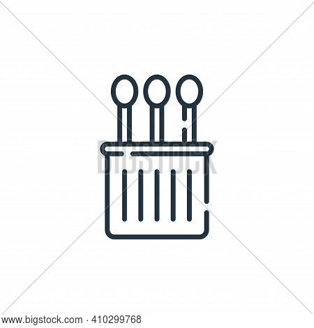 cotton swabs icon isolated on white background from hygiene routine collection. cotton swabs icon th