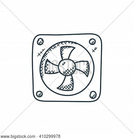 cooling fan icon isolated on white background from technology collection. cooling fan icon thin line