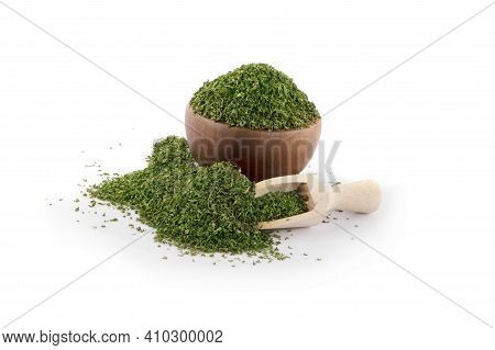 Dried Parsley Isolated A On White Parsley