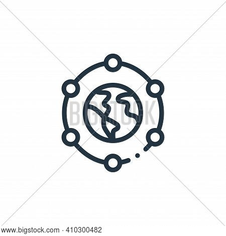 connection icon isolated on white background from world love collection. connection icon thin line o