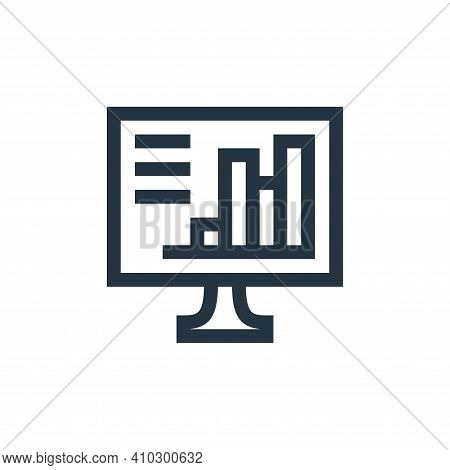 computer icon isolated on white background from job resume collection. computer icon thin line outli