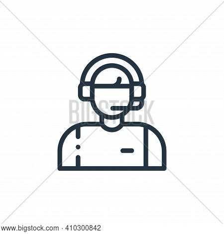 commentator icon isolated on white background from autoracing collection. commentator icon thin line