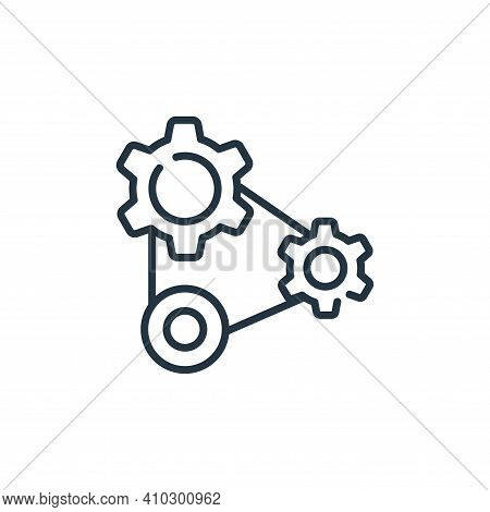 cogwheels icon isolated on white background from industrial process collection. cogwheels icon thin