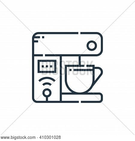 coffee machine icon isolated on white background from smarthome collection. coffee machine icon thin