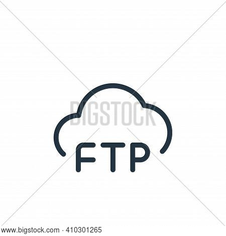 cloud icon isolated on white background from data transfer collection. cloud icon thin line outline