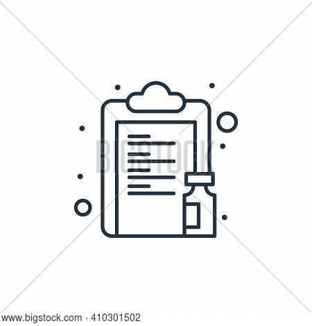 clipboard icon isolated on white background from coronavirus collection. clipboard icon thin line ou