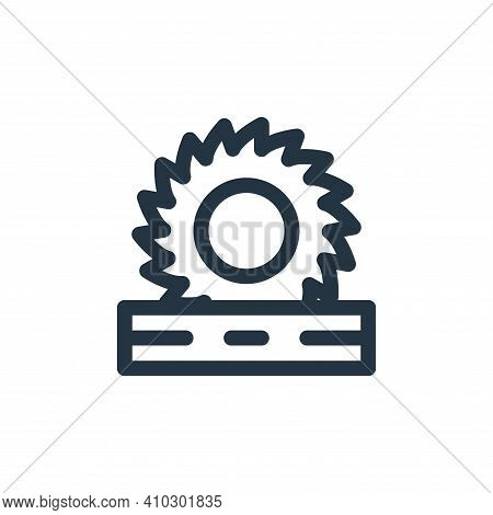 circular saw icon isolated on white background from labour day collection. circular saw icon thin li
