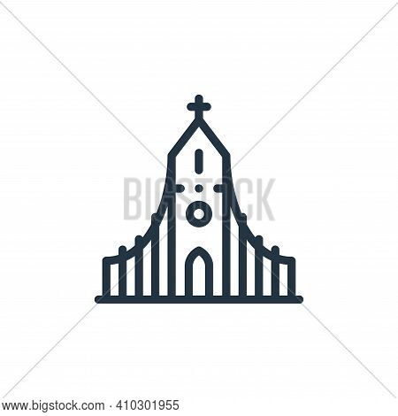 church icon isolated on white background from europe collection. church icon thin line outline linea