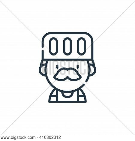 chef icon isolated on white background from labour day collection. chef icon thin line outline linea