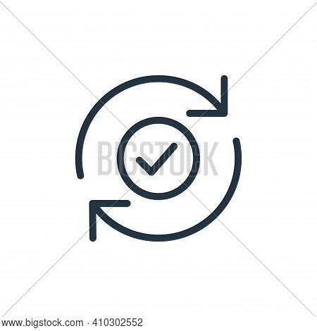 checked icon isolated on white background from data transfer collection. checked icon thin line outl