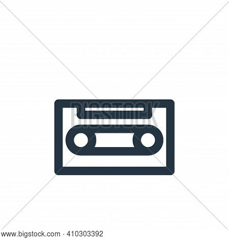 cassette icon isolated on white background from multimedia collection. cassette icon thin line outli