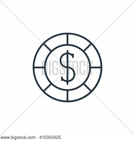 casino chips icon isolated on white background from casino collection. casino chips icon thin line o