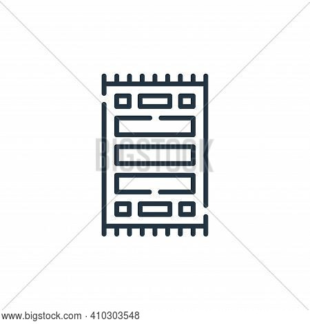 carpet icon isolated on white background from desert collection. carpet icon thin line outline linea