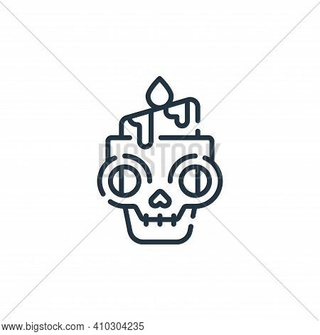 candle icon isolated on white background from mexico collection. candle icon thin line outline linea