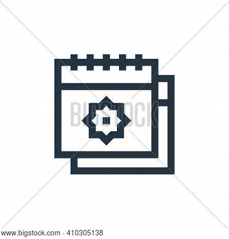 calendar icon isolated on white background from ramadan collection. calendar icon thin line outline