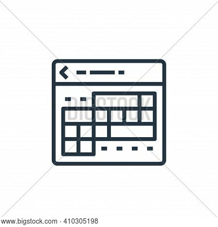 calendar icon isolated on white background from travel collection. calendar icon thin line outline l