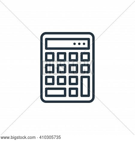 calculator icon isolated on white background from education collection. calculator icon thin line ou