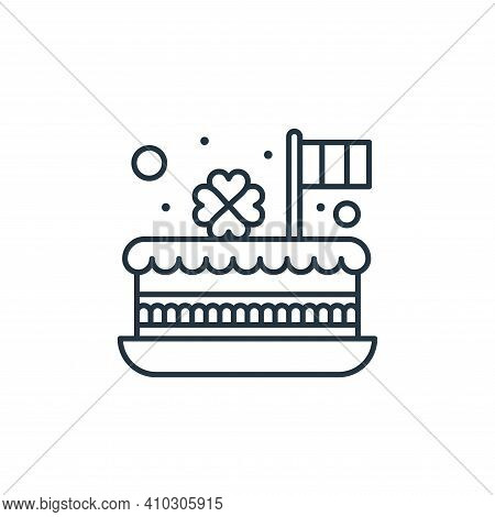 cake icon isolated on white background from saint patrick collection. cake icon thin line outline li