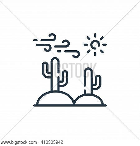 cactus icon isolated on white background from desert collection. cactus icon thin line outline linea