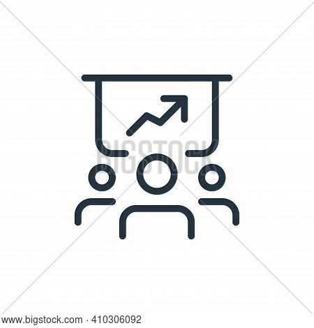 business presentation icon isolated on white background from work office and meeting collection. bus