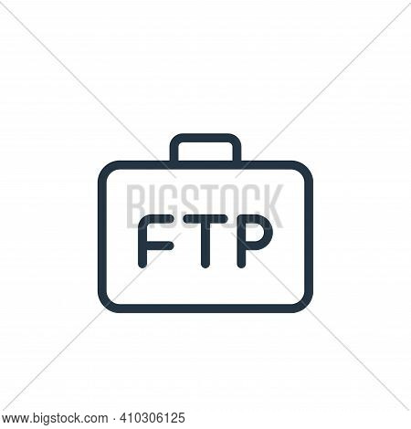 business icon isolated on white background from data transfer collection. business icon thin line ou