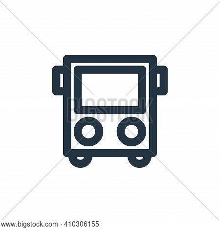 bus icon isolated on white background from holiday collection. bus icon thin line outline linear bus