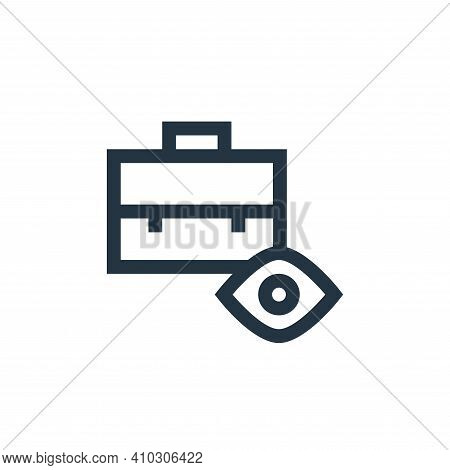 briefcase icon isolated on white background from job resume collection. briefcase icon thin line out