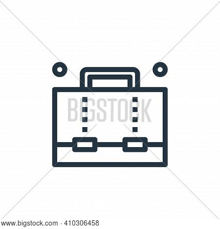 briefcase icon isolated on white background from business collection. briefcase icon thin line outli