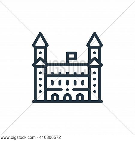 bratislava castle icon isolated on white background from europe collection. bratislava castle icon t