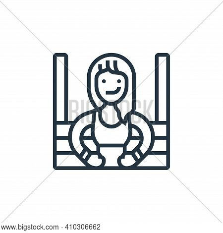 boxing icon isolated on white background from fitness collection. boxing icon thin line outline line