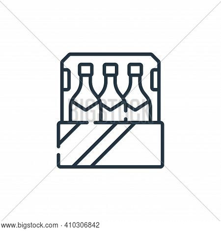 bottle icon isolated on white background from celebration collection. bottle icon thin line outline