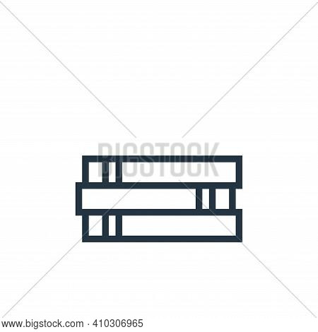books icon isolated on white background from education collection. books icon thin line outline line