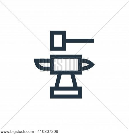 blacksmith icon isolated on white background from history collection. blacksmith icon thin line outl