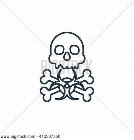 biohazard icon isolated on white background from coronavirus collection. biohazard icon thin line ou
