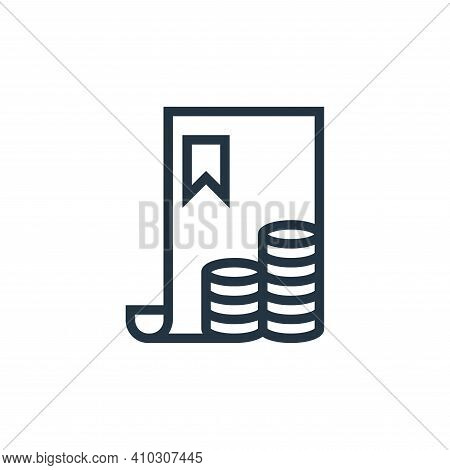 bill icon isolated on white background from finance collection. bill icon thin line outline linear b