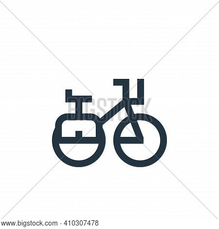 bike icon isolated on white background from holland collection. bike icon thin line outline linear b