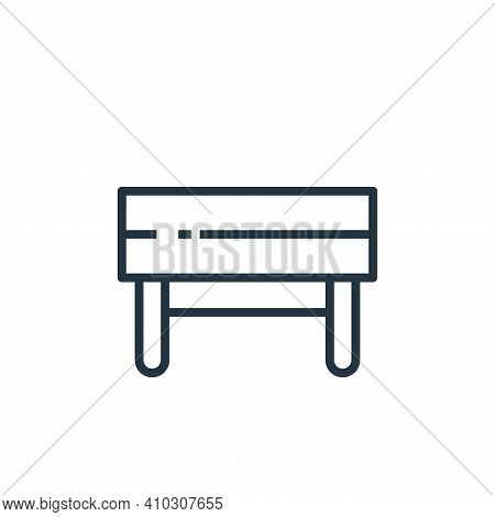 bench icon isolated on white background from recycling collection. bench icon thin line outline line