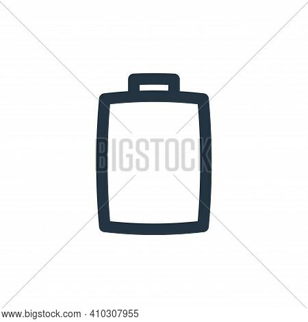 battery icon isolated on white background from basic ui collection. battery icon thin line outline l