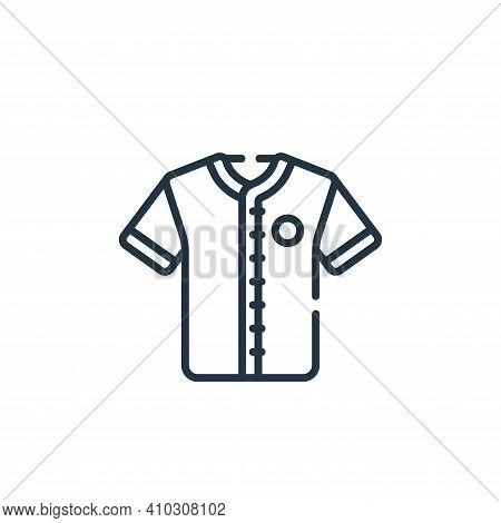 baseball jersey icon isolated on white background from baseball collection. baseball jersey icon thi