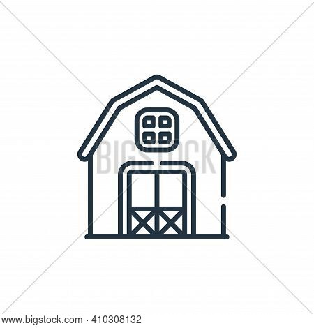 barn icon isolated on white background from smart farm collection. barn icon thin line outline linea