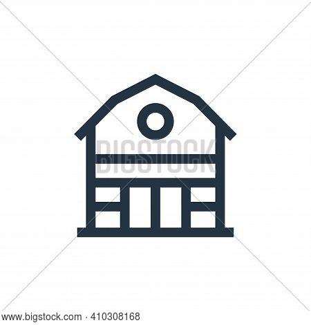 barn icon isolated on white background from holland collection. barn icon thin line outline linear b