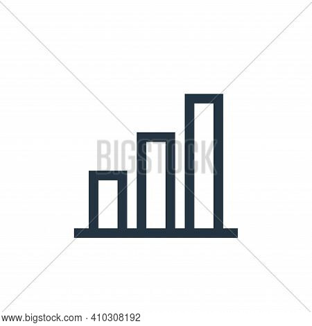 bar chart icon isolated on white background from web essentials collection. bar chart icon thin line