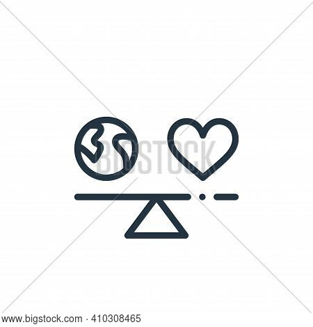 balance icon isolated on white background from world love collection. balance icon thin line outline