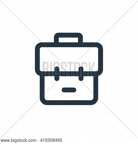bag icon isolated on white background from business collection. bag icon thin line outline linear ba