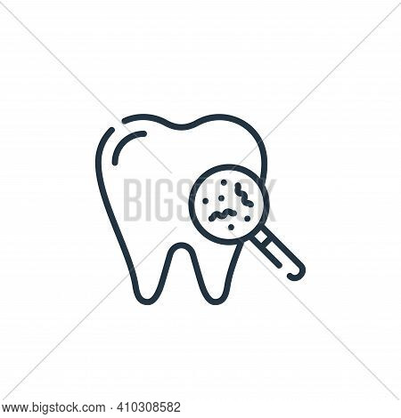 bacteria icon isolated on white background from dental care collection. bacteria icon thin line outl