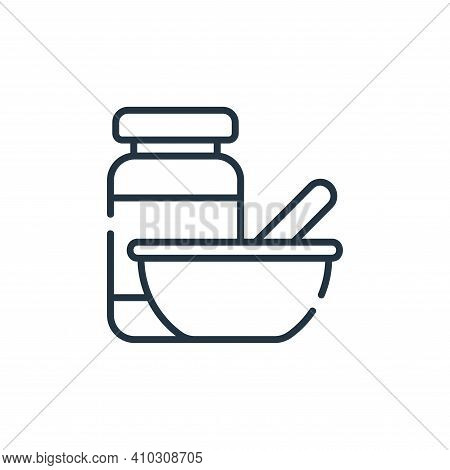 baby food icon isolated on white background from maternity collection. baby food icon thin line outl