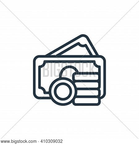 asset icon isolated on white background from money collection. asset icon thin line outline linear a