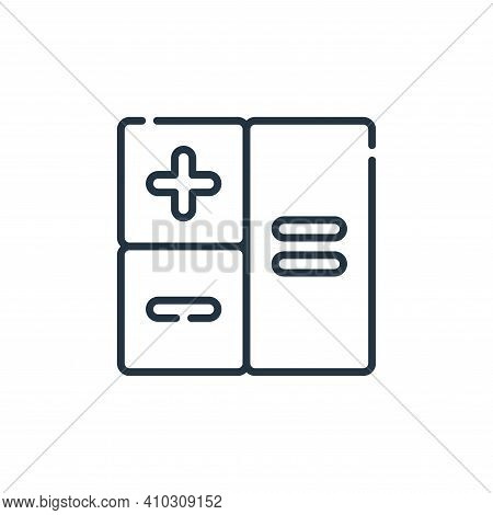 arithmetic icon isolated on white background from academy collection. arithmetic icon thin line outl