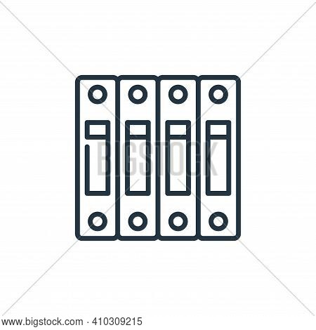 archive icon isolated on white background from management collection. archive icon thin line outline